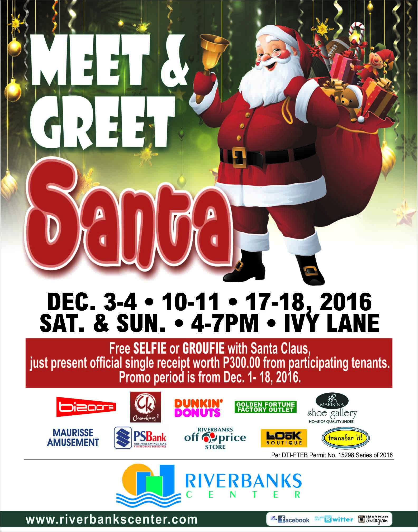 Riverbanks center title meet and greet santa m4hsunfo